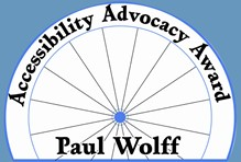 Paul Wolff Accessibility Advocacy Award artwork